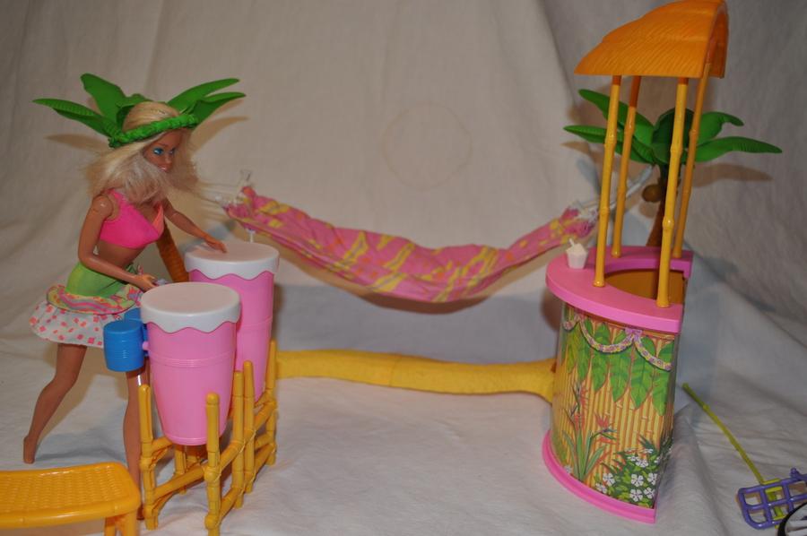 Barbie zubeh r strandbar h ngematte fahrrad zu kaufen bei for Barbie wohnzimmer 80er